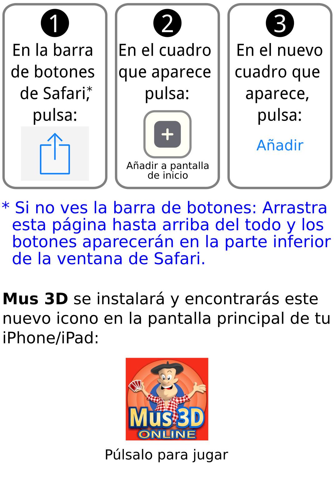 Mus3D: Crear link del juego en IOS