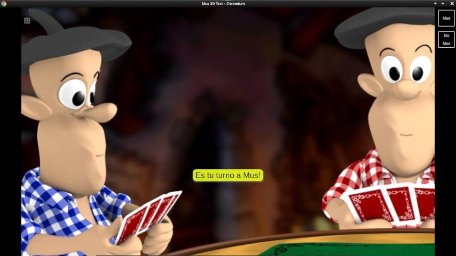 Realista juego de Mus con voces y textos en español